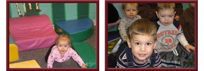 Infants and toddlers in our care.